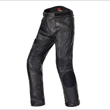 Biker Waterproof Leather Pants