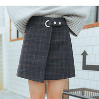 Buy TREEZIN Plaid Mini Skirt | YesStyle