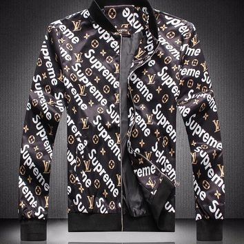Louis Vuitton x Supreme Woman Men Fashion Coat Jacket Cardigan