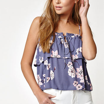 LA Hearts Overlay Tie Front Top at PacSun.com