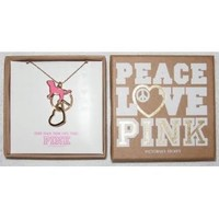 Victoria's Secret Pink Peace Love Necklace