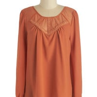 ModCloth Mid-length Long Sleeve Style Worth Celebrating Top