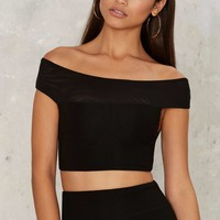 Off and On Off-the-Shoulder Top
