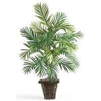 Artificial Plant -Areca Palm With Wicker Basket Floor Silk Plant