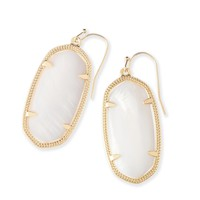 Elle Gold Earrings In White Pearl