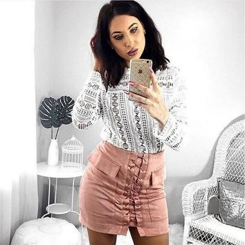 Women's Fashion With Pocket Hot Sale Skirt [1298763087988]