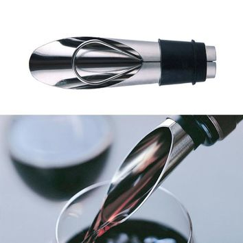 2Pcs/Lot Stainless Steel Wine Bottle Stopper And Wine Pourer Set Olive Oil Red Wine Bottle Plug Hour Dispenser Red Wine Decanter