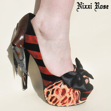 Freddy Krueger Inspired High Heels
