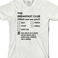 The Breakfast Club-Unisex White T-Shirt