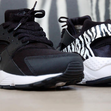 Nike Huarache Zebra Customs Hand made