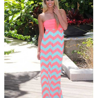 Stylish Print Stripes Wrap Prom Dress One Piece [6046546817]