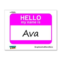 Ava Hello My Name Is Sticker