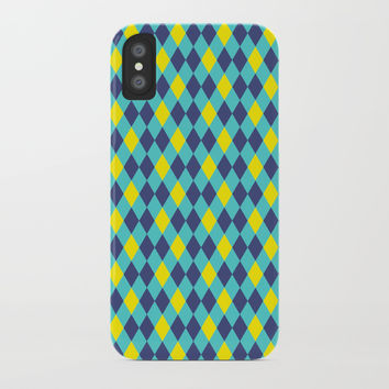 Rhombus pattern iPhone Case by Printerium