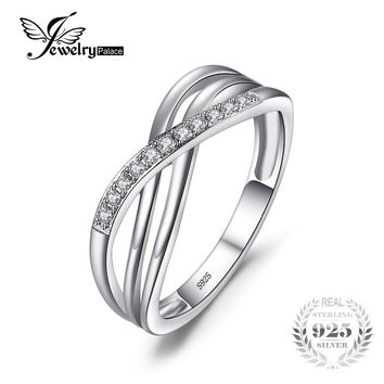 JewelryPalace Infinity Love Romantic Anniversary Wedding Promise Ring 925 Sterling Silver Jewelry For Women Fashion On Sale