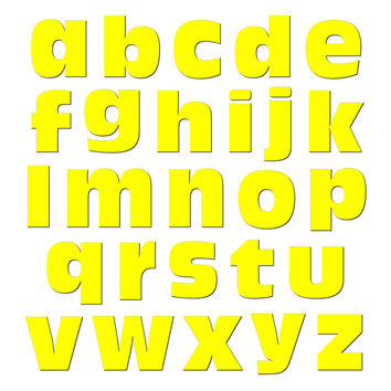 Alphabet Letters Lowercase Yellow MAG-NEATO'S TM Refrigerator Magnet Set