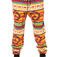 The Tribal Slouchy Knit Pants in Red