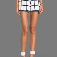Finders Keepers Midnight Lover Shorts in Check Print & Petrol
