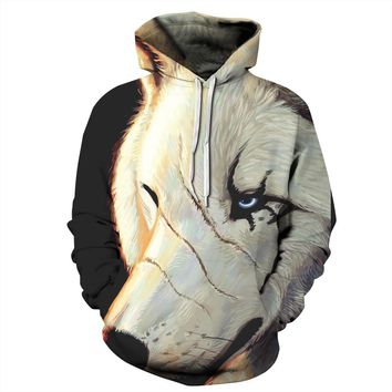 Hoodies Harajuku Leisure Sports Women Men 3d Scars wolf digital printing Sports print Hoodies Pullovers graphic