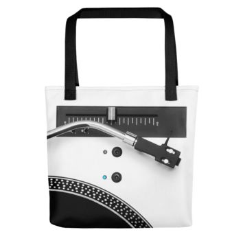 Turntable Vinyl Record Tote Bag
