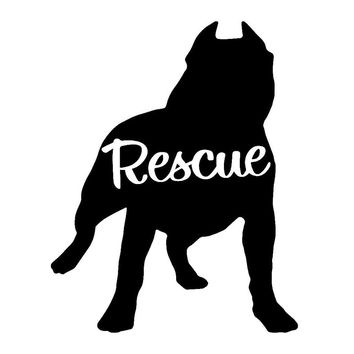 8.8cm*11.1cm Pit Bull Rescue Car Accessories Decor Vinyl Car Sticker S4-0699