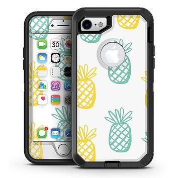 Gold and Mint Pineapple - iPhone 7 or 7 Plus OtterBox Defender Case Skin Decal Kit