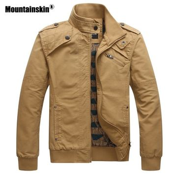 Mountainskin 2018 New Men's Jackets Autumn Casual Military Tactical Coats Slim Fit Male Bomber Jacket Mens Brand Clothing SA531
