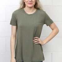 Soft + Basic Short Sleeve Tee {Olive}