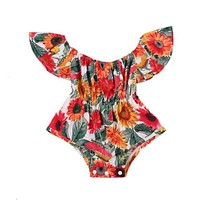 Baby Girls Clothes Newborn Bodysuit Flower Cute Short Sleeve Summer Jumpsuit Clothing Baby Girl Sunsuit Outfits