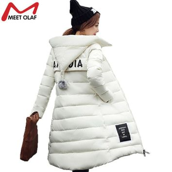 Women Parkas Winter Hooded Thicken Coat xxxxl Warm Cotton Padded Ladies Long Wadded  Parka YL019