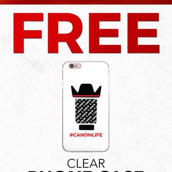 Christmas 2018 Free PFIPHN0040 Clear iPhone Case Canon Life Lens (Case available for 5c/5s/6/6s7/ 7+) Gift With Purchase