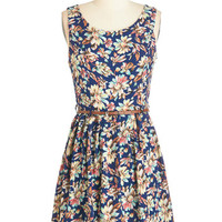ModCloth Festival Short Length Sleeveless A-line Sense of Serenity Dress