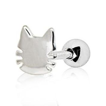 316L Stainless Steel Cat Cartilage Earring