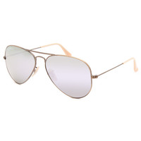 Ray-Ban Aviator Flash Lenses Sunglasses Lilac One Size For Women 25614476201
