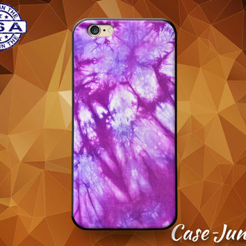 Tie Dye Purple Hippy Hippie Tumblr Inspired Custom Case For iPhone 5/5s/5c and iPhone 6 and 6+, iPhone 6s, iPhone 6s Plus and iPhone SE Case
