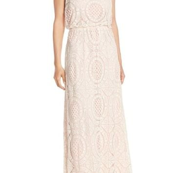 Eliza J Lace Blouson Maxi Dress (Regular & Petite) | Nordstrom