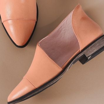 Almond Toe Oxford Flat