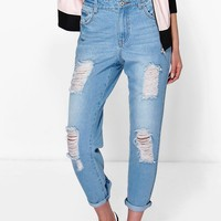 Jane Distressed Boyfriend Denim Jeans