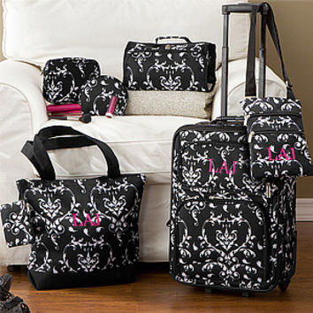 Damask Personalized Six-Piece Luggage Set - Ladies Gifts - Ladies Gifts
