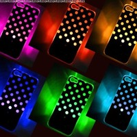 Polka Dot LED Color Changing Sense Flash Light Up Case Cover For iPhone 5 5G 5th:Amazon:Cell Phones & Accessories