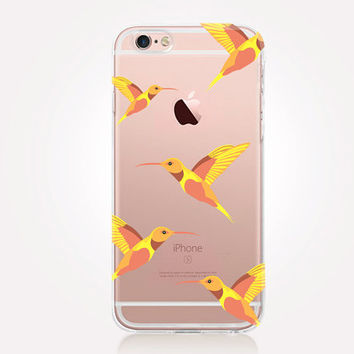 Transparent Hummingbirds Phone Case - Transparent Case - Clear Case - Transparent iPhone 6 - Transparent iPhone 5 - Samsung S7 - iPhone SE