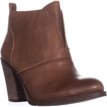 Lucky Brand Ehllen Pull On Ankle Boots, Toffee, 5 US / 35 EU