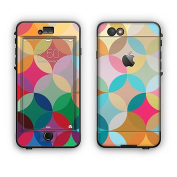 The Overlaping Colorful Connect Circles Apple iPhone 6 LifeProof Nuud Case Skin Set