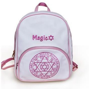 Anime Backpack School Japan Style Variety Sakura  Cute Magic Array Embroidered Rucksack Women High Quality School Bags For Teenage Girls AT_60_4