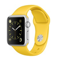 Apple Watch Sport - 38mm Silver Aluminum Case with Yellow Sport Band