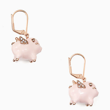 imagination pig drop earrings