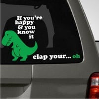 Sad Dinosaur Car Decal | The Decal Guru