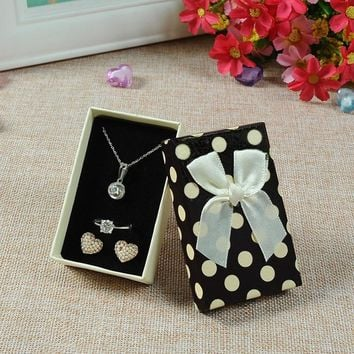 5*8*2.5cm Jewelry Sets Display Box Mixed Colors Necklace Earrings Ring Box for Jewellery Gift Cardboard Boxes and Packaging 4pcs