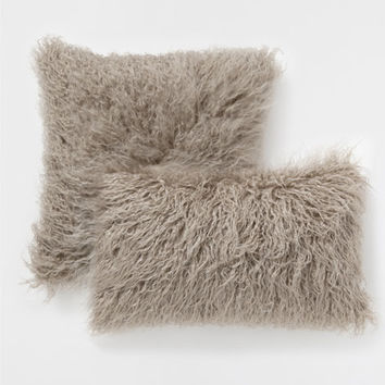 Taupe fur-effect pillow - Decorative Pillows - Bedroom | Zara Home United States