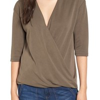 Madison & Berkeley Surplice Top | Nordstrom