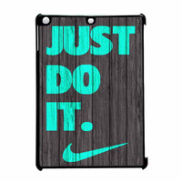 Nike Just Do It Wood Colored Darkwood Wooden Fdl iPad Air Case